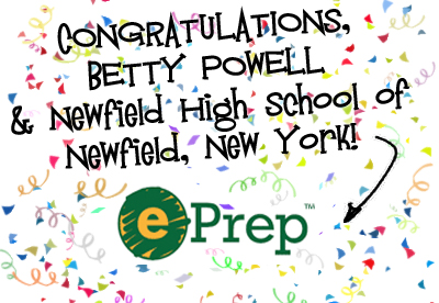 Betty Powell of Newfield High School, Newfield, NY